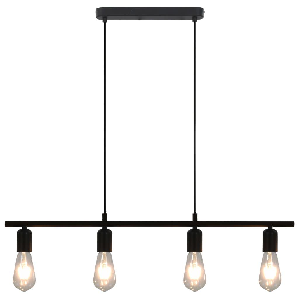 Stropní světlo se žhavícími žárovkami 2 W černé 80 cm E27
