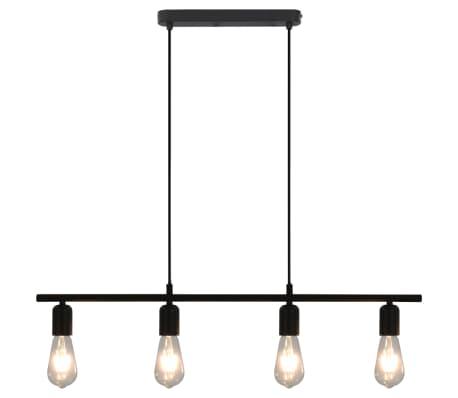 vidaXL Taklampa med glödlampor 2 W svart 80 cm E27