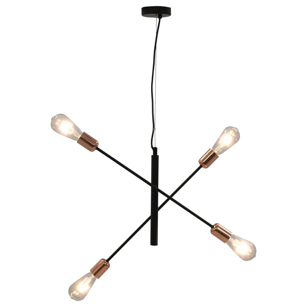 Stropní světlo se žhavícími žárovkami 2 W černé a měď E27