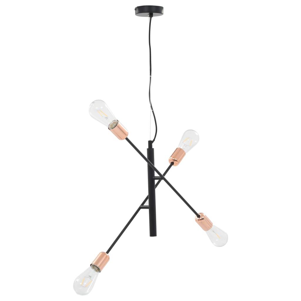 Comwinkel Plafondlamp met filament peren 2 W E27 zwart en koper