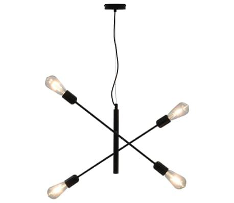 vidaXL Stropní světlo černé E27