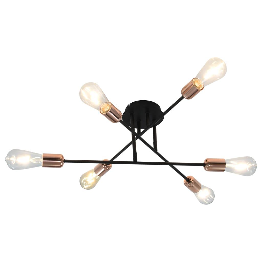 Comwinkel Plafondlamp E27 zwart en koper