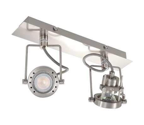 vidaXL Spotlys 2-veis sølv GU10