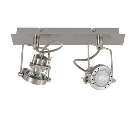 vidaXL Projecteur à 2 voies Argenté GU10[3/6]