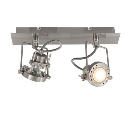 vidaXL Projecteur à 2 voies Argenté GU10[4/6]