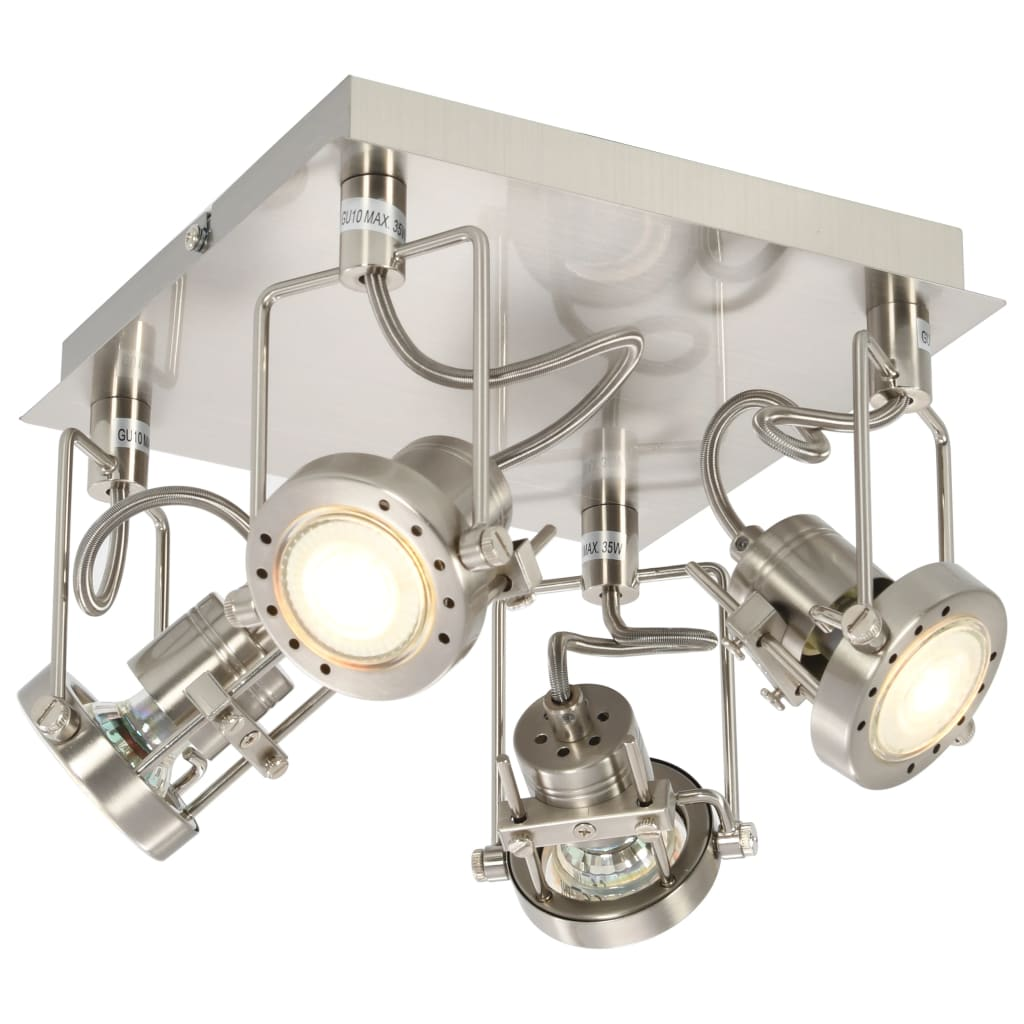 vidaXL 4směrné bodové světlo stříbrné GU10