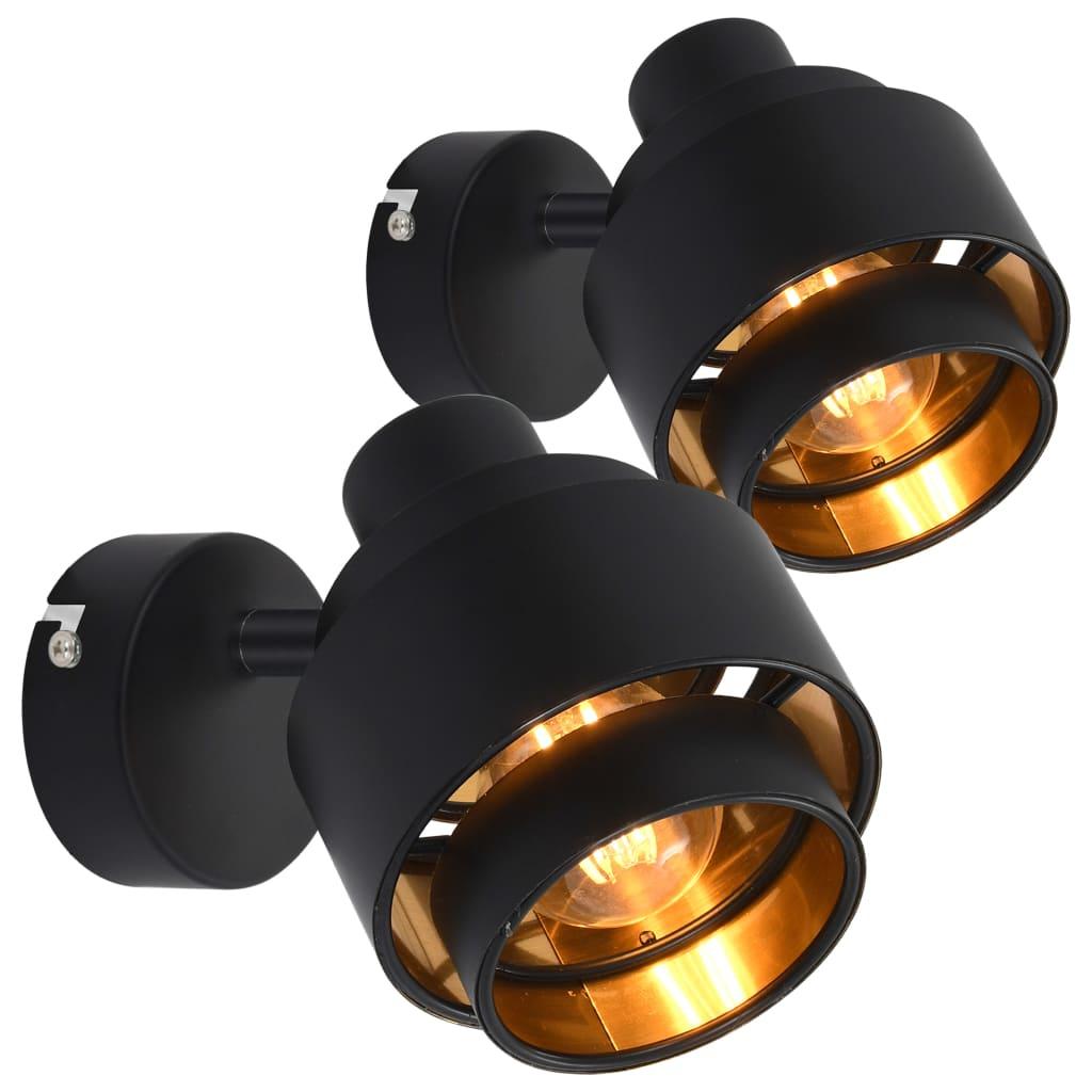 Bodová světla 2 ks černá E14
