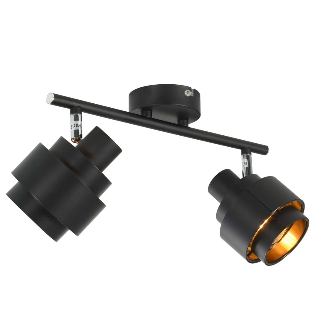 vidaXL 2směrné bodové světlo černé E14
