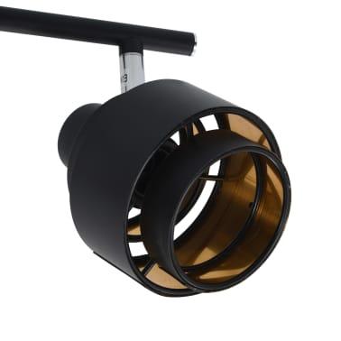 vidaXL Projecteur à 4 voies Noir E14[6/6]