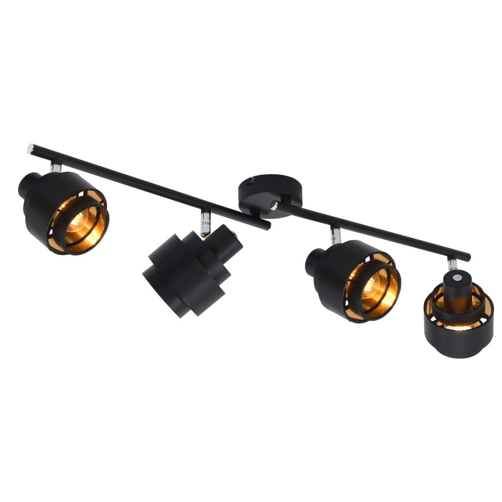 vidaXL 4směrné bodové světlo černé E14