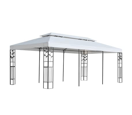 vidaXL Pavillon 3 x 6 m Weiß