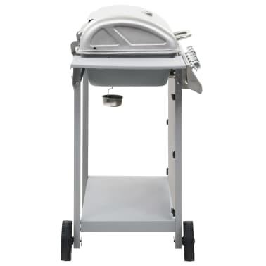 vidaXL Gassgrill med 6 kokesoner rustfritt stål sølv[4/11]