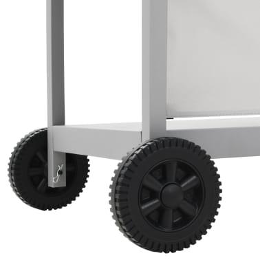 vidaXL Gassgrill med 6 kokesoner rustfritt stål sølv[9/11]