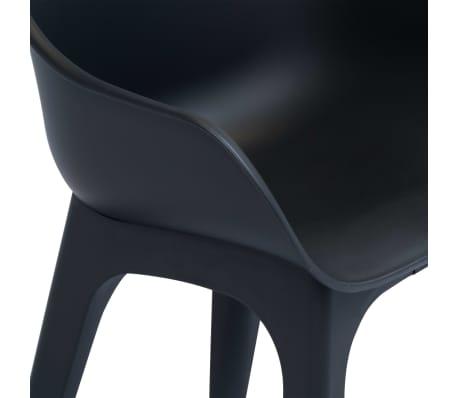 vidaXL Caféset 3 delar plast antracit[6/12]