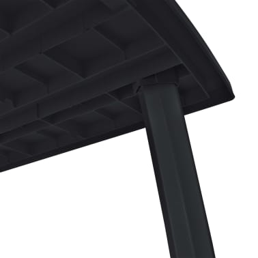 vidaXL 11 Piece Outdoor Dining Set Plastic Anthracite[12/14]