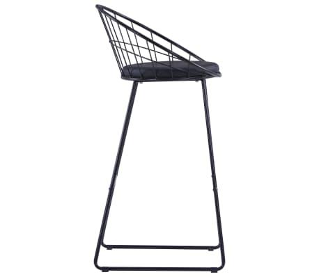 vidaXL Chaises de bar avec sièges en similicuir 2 pcs Noir Acier[4/7]