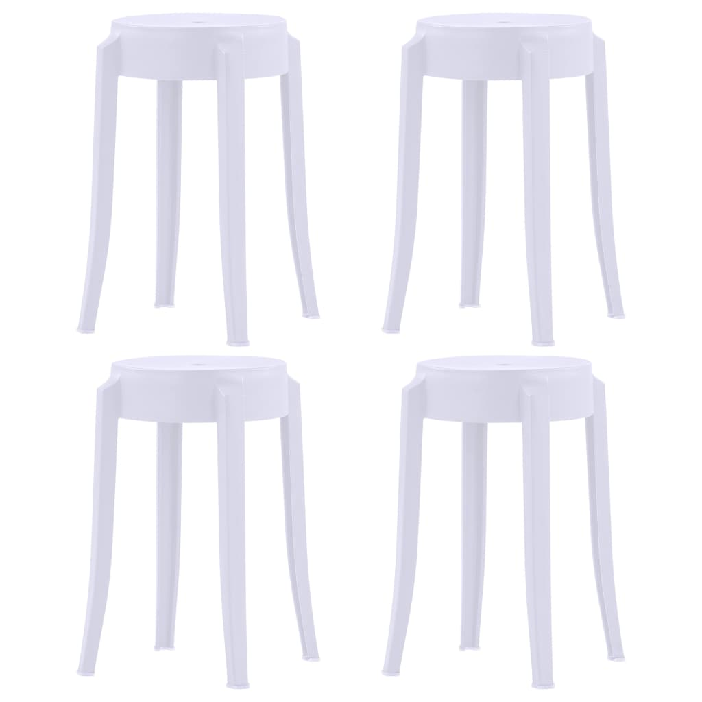 Stohovatelné stoličky 4 ks bílé plast