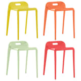 vidaXL Stackable Stools 4 pcs Multicolour Plastic