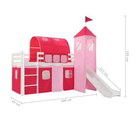 Vidaxl Wysoka Rama łóżka Dziecięcego Zjeżdżalnia I Drabinka 97x208cm
