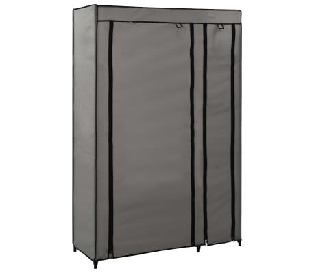 vidaXL Skladací šatník sivý 110x45x175 cm látkový