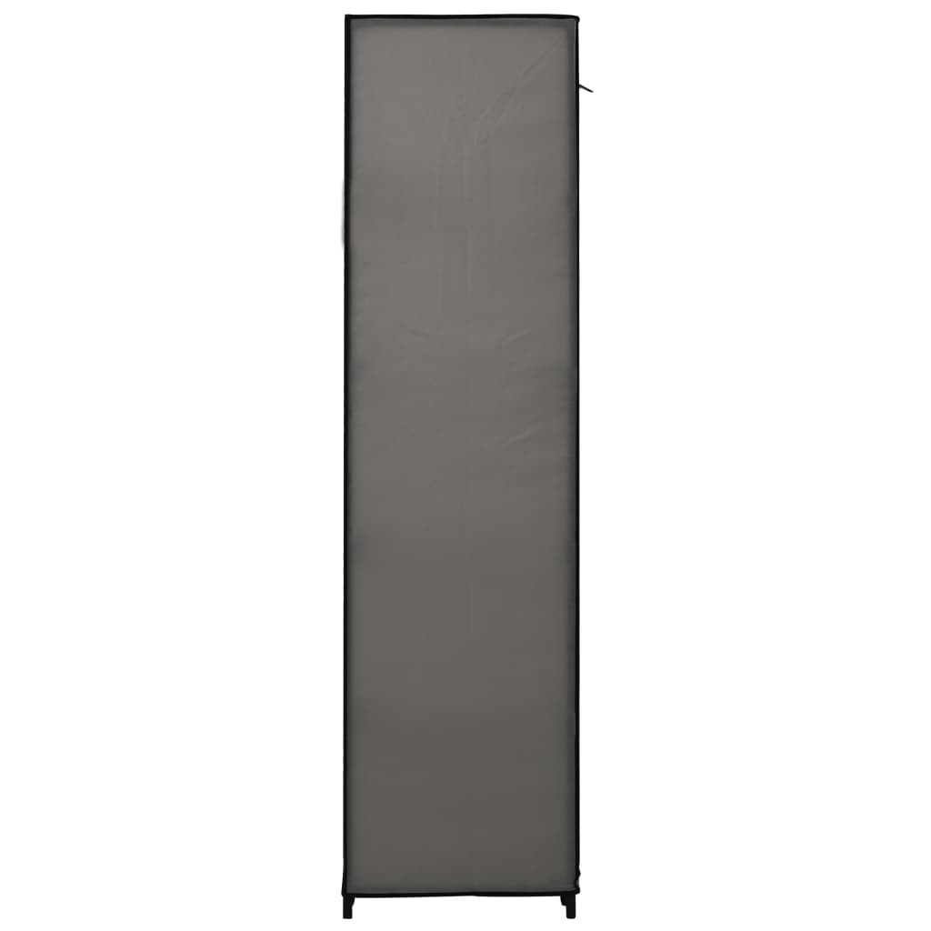 vidaXL Kledingkasten opvouwbaar 2 st 110x45x175 cm stof grijs