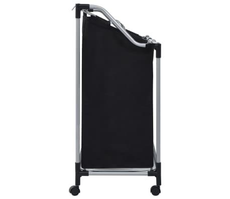 vidaXL Wassorteerder met 3 zakken staal zwart[3/7]