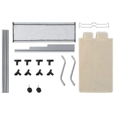 vidaXL Wassorteerder met 3 zakken staal crème[6/7]