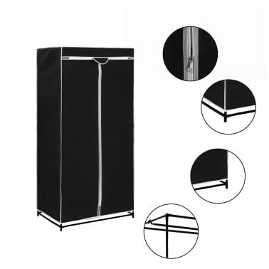 vidaXL Armario negro 75x50x160 cm[1/9]