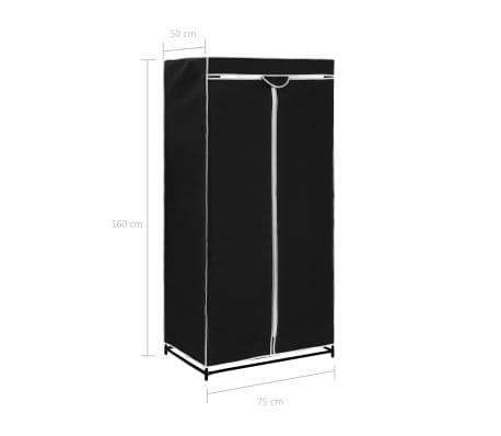 vidaXL Armario negro 75x50x160 cm[9/9]