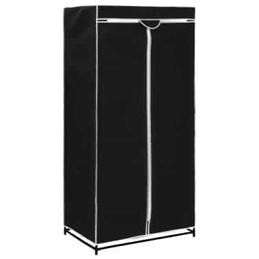 vidaXL Armario negro 75x50x160 cm[2/9]