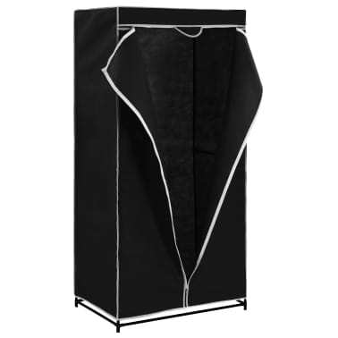 vidaXL Armario negro 75x50x160 cm[4/9]