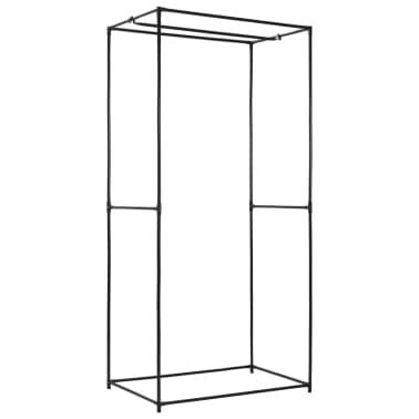 vidaXL Armario negro 75x50x160 cm[5/9]
