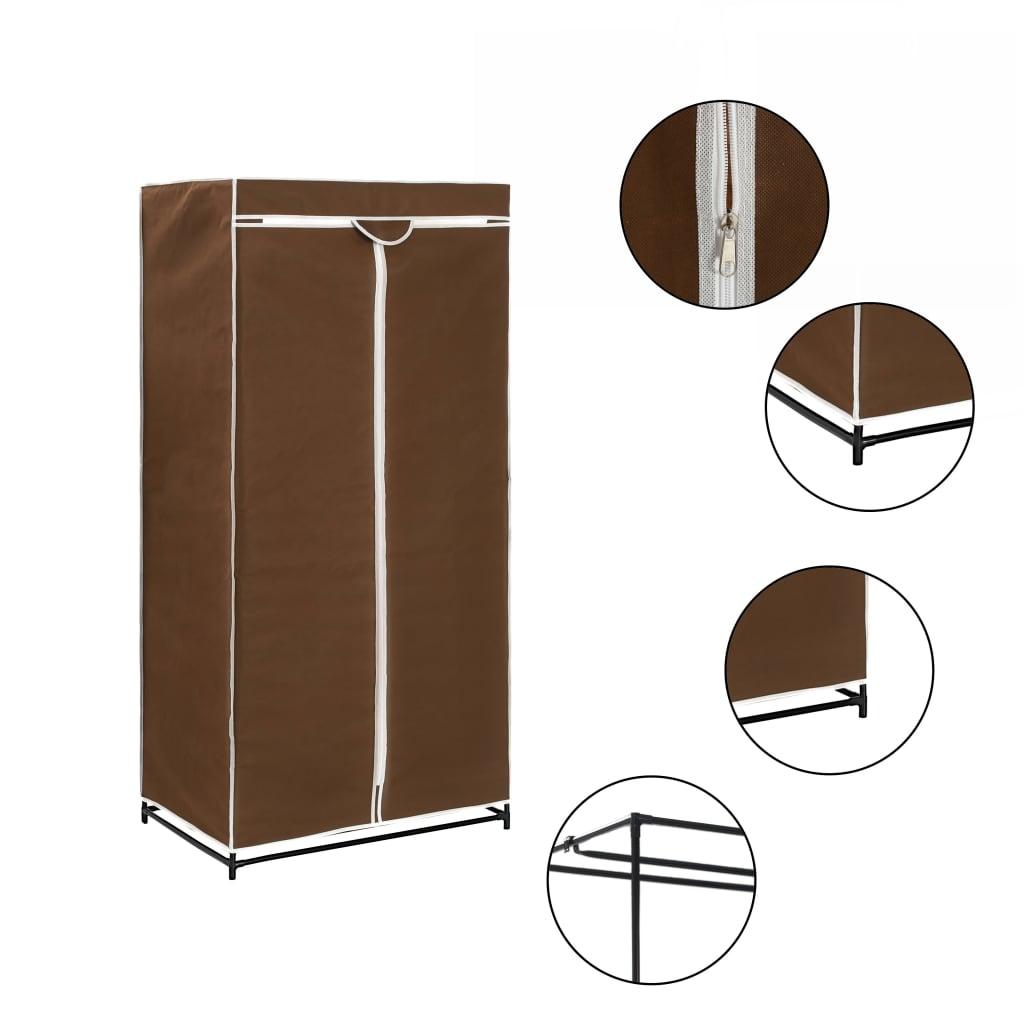 vidaXL Kledingkast 75x50x160 cm bruin