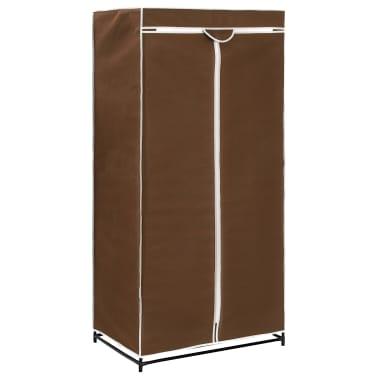 vidaXL Drabužių spinta, ruda, 75x50x160cm[2/9]
