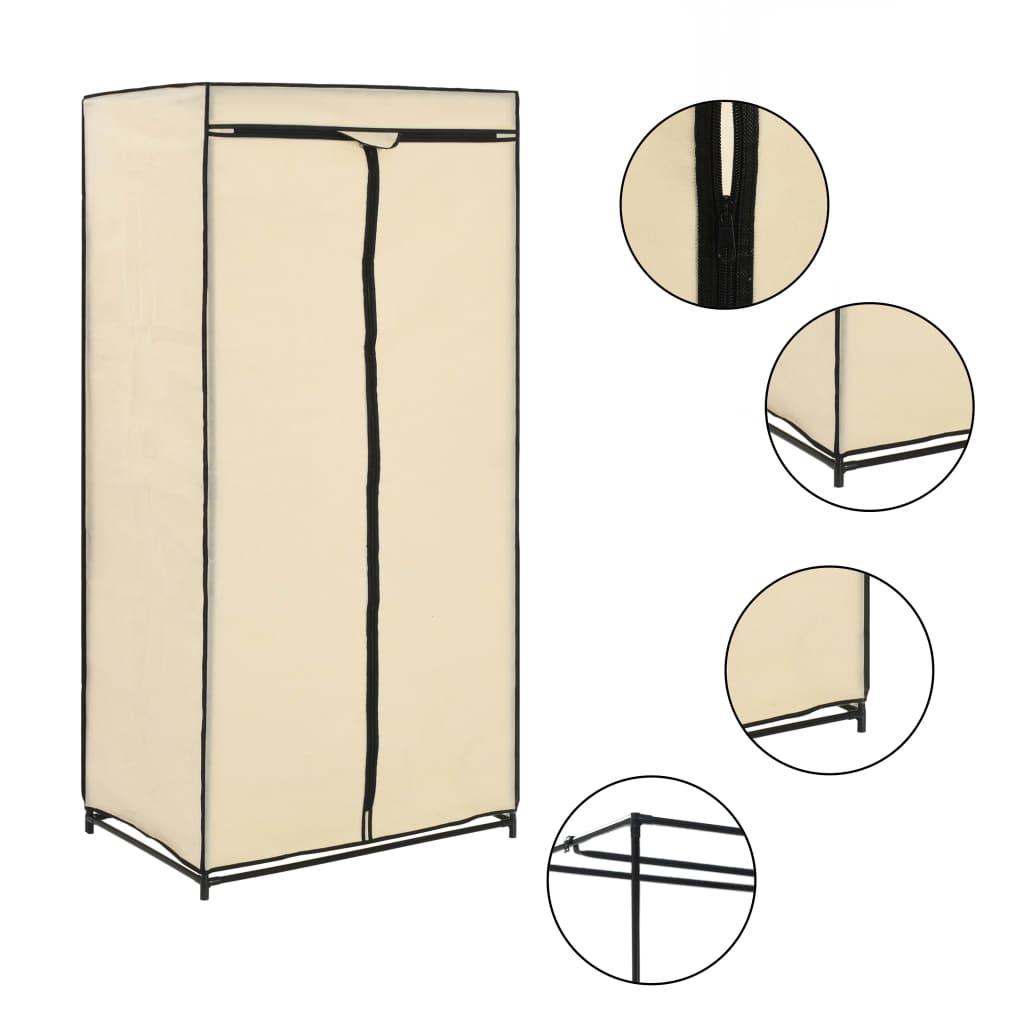 Šatní skříň krémová 75 x 50 x 160 cm