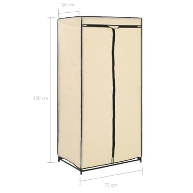 vidaXL Garde-robe Crème 75x50x160 cm[9/9]