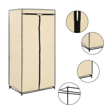 vidaXL Drabužių spintos, 2vnt., kreminės, 75x50x160cm[2/10]