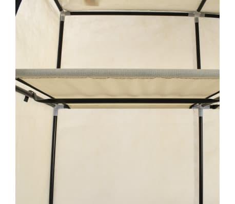 vidaXL Armoire avec compartiments et barres Crème 150x45x175 cm Tissu[7/10]