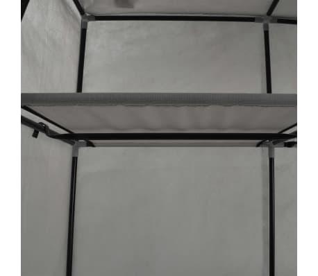 vidaXL Armoire avec compartiments et barres Gris 150x45x175 cm Tissu[7/10]