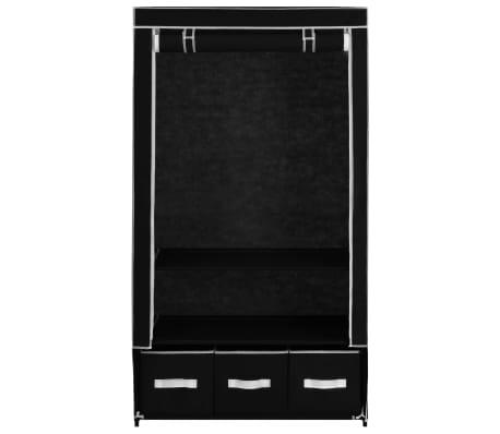 vidaXL Garde-robe Noir 87 x 49 x 159 cm Tissu[4/8]