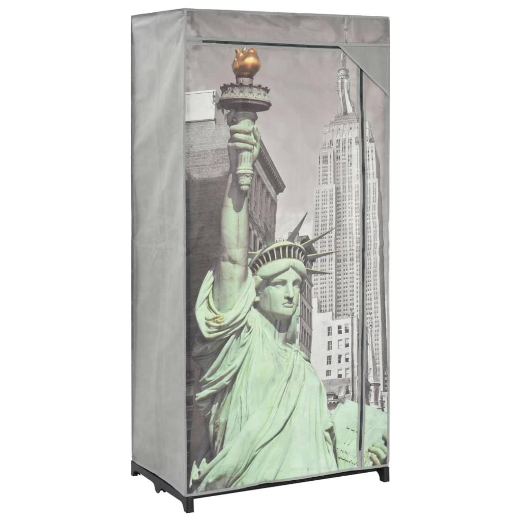 Šatní skříň New York 75 x 45 x 160 cm textil