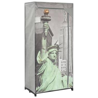 vidaXL Kledingkast New York 75x45x160 cm stof[1/8]