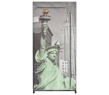 vidaXL Kledingkast New York 75x45x160 cm stof[3/8]