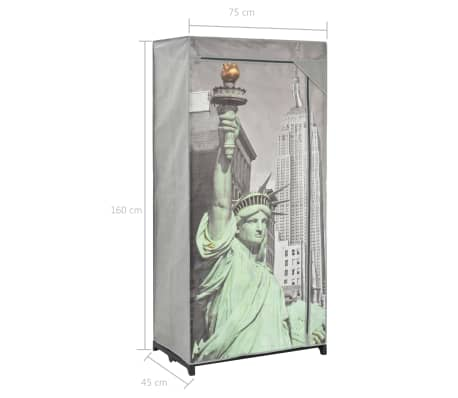 vidaXL Kledingkast New York 75x45x160 cm stof[8/8]