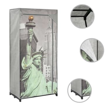 vidaXL Kledingkast New York 75x45x160 cm stof[2/8]