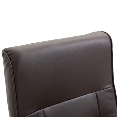 vidaXL Masažinis krėslas, rudos spalvos, dirbtinė oda[8/11]