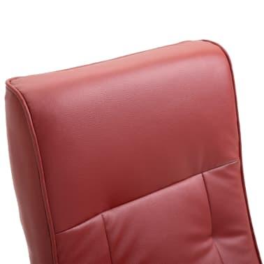 vidaXL Masažinis krėslas, vyno raudonos spalvos, dirbtinė oda[8/11]