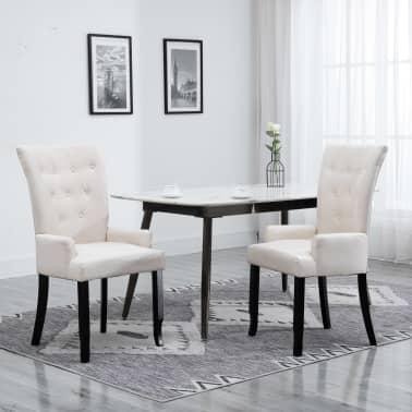 Mesa de jantar com 8 cadeiras, sendo duas de braços em