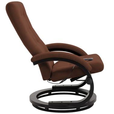 vidaXL Atlošiamas masažinis krėslas su pakoja, rud. sp., zomša[4/10]