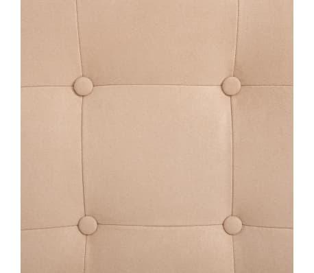vidaXL Fauteuil de massage avec repose pieds Crème Tissu en daim